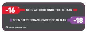 geen alcohol onder 16 jaar