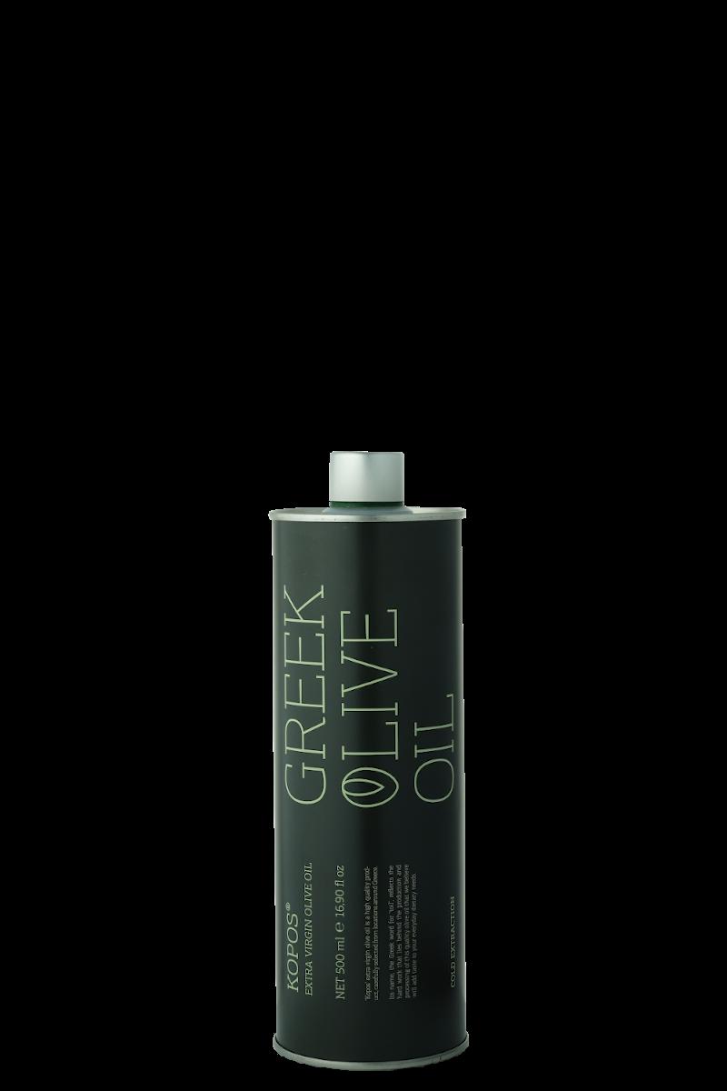 Greek olive oil Kopos blik