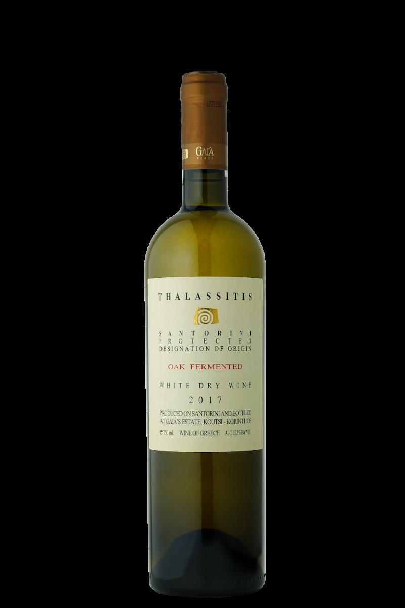 Thalassitis white dry wine 2017 oak fermented